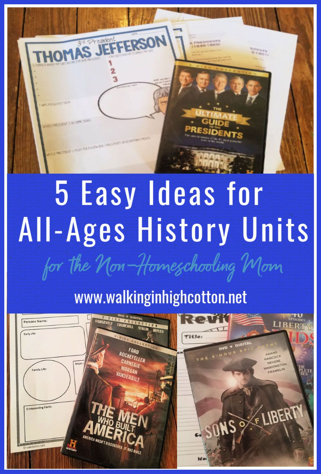 Photo of 5 Easy Ideas for All-Age US History Lessons for the Non-Homeschooling Mom » Walking in High Cotton