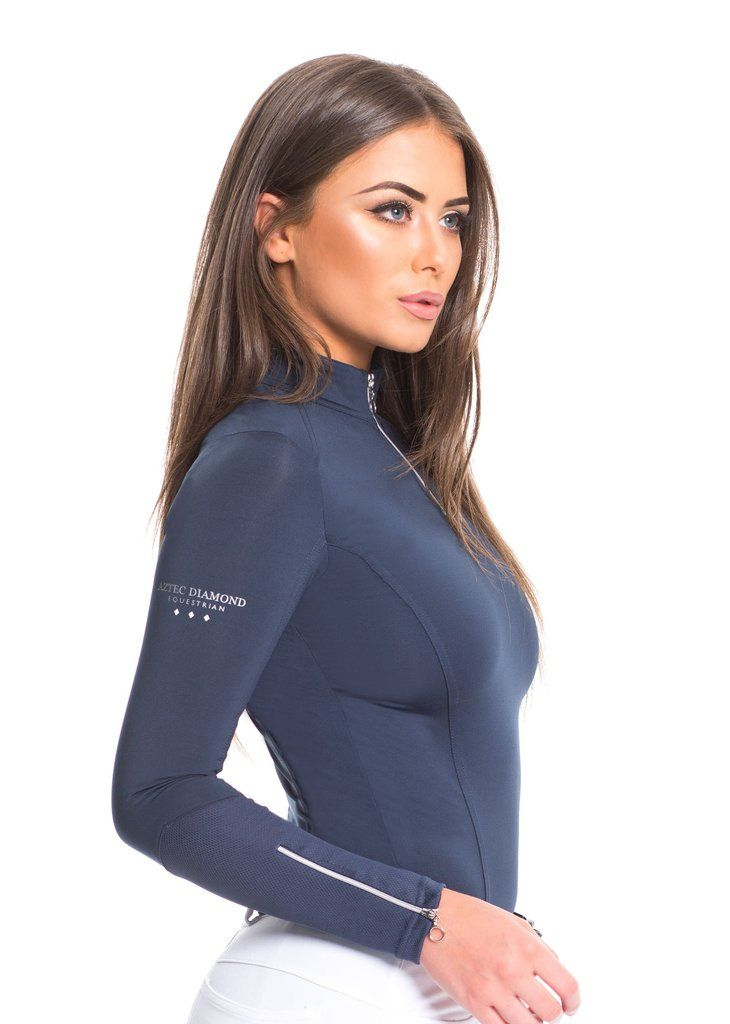 Navy Technical Stretch Base Layer Equine Apparel In 2019