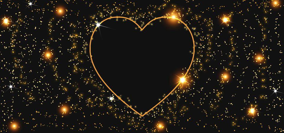 إطار القلب الفوار الذهبي مع لمعان مشرق Cadre Coeur Cadre En Forme De Coeur Cadre
