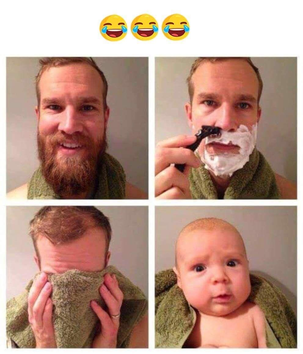 What I Feel After Having A Clean Shave Beard Humor Funny Pictures Funny Gif