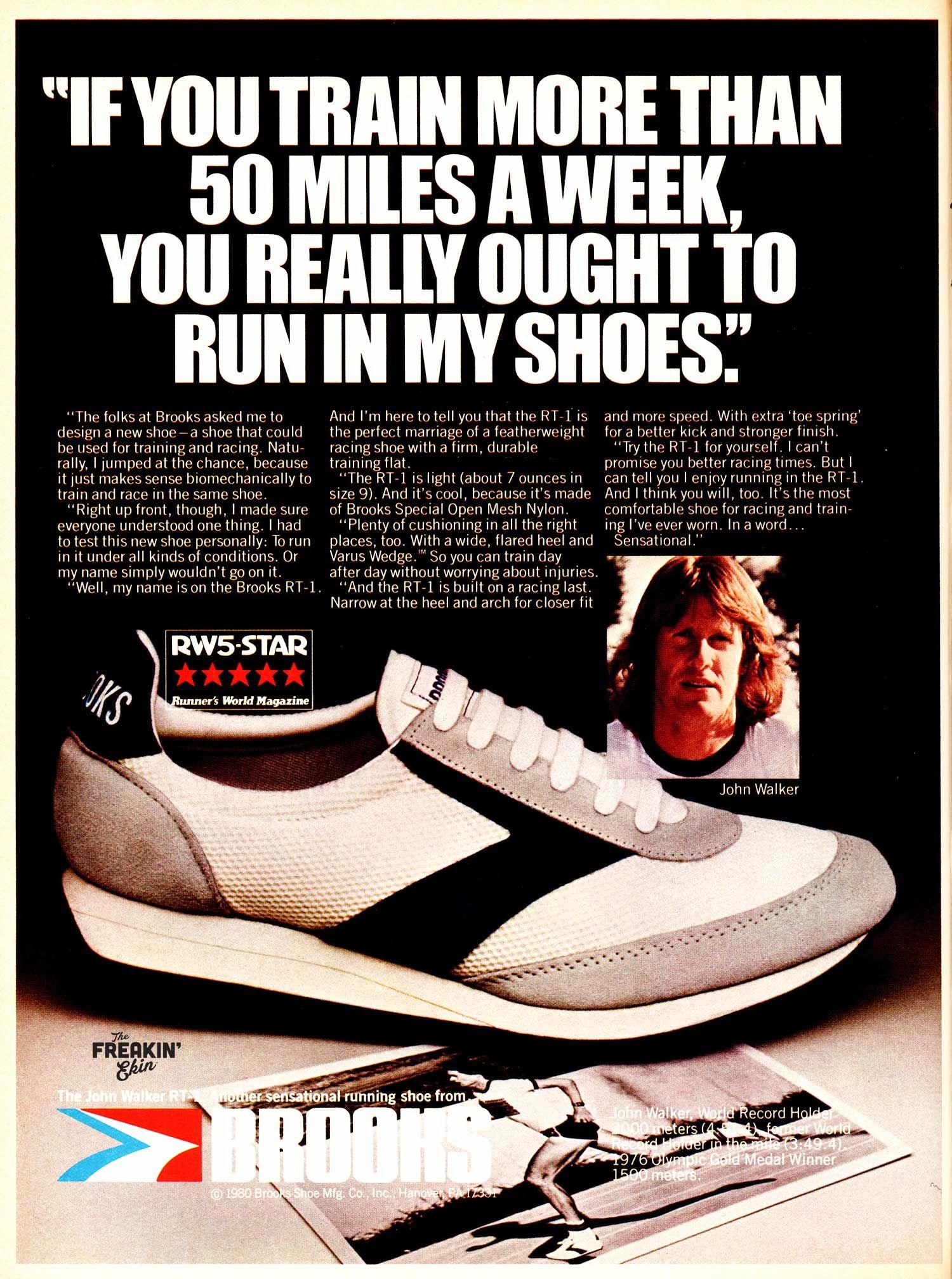 5b687a566951f Brooks RT-1 John Walker 1980 vintage sneaker ad   The Freakin  Ekin ...