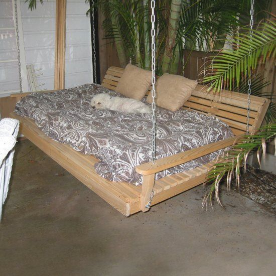 Swing From The Rafters With These Totally Awesome Bed Frames You Can Diy Or Buy Bed Swing Cool Beds Porch Swing Bed