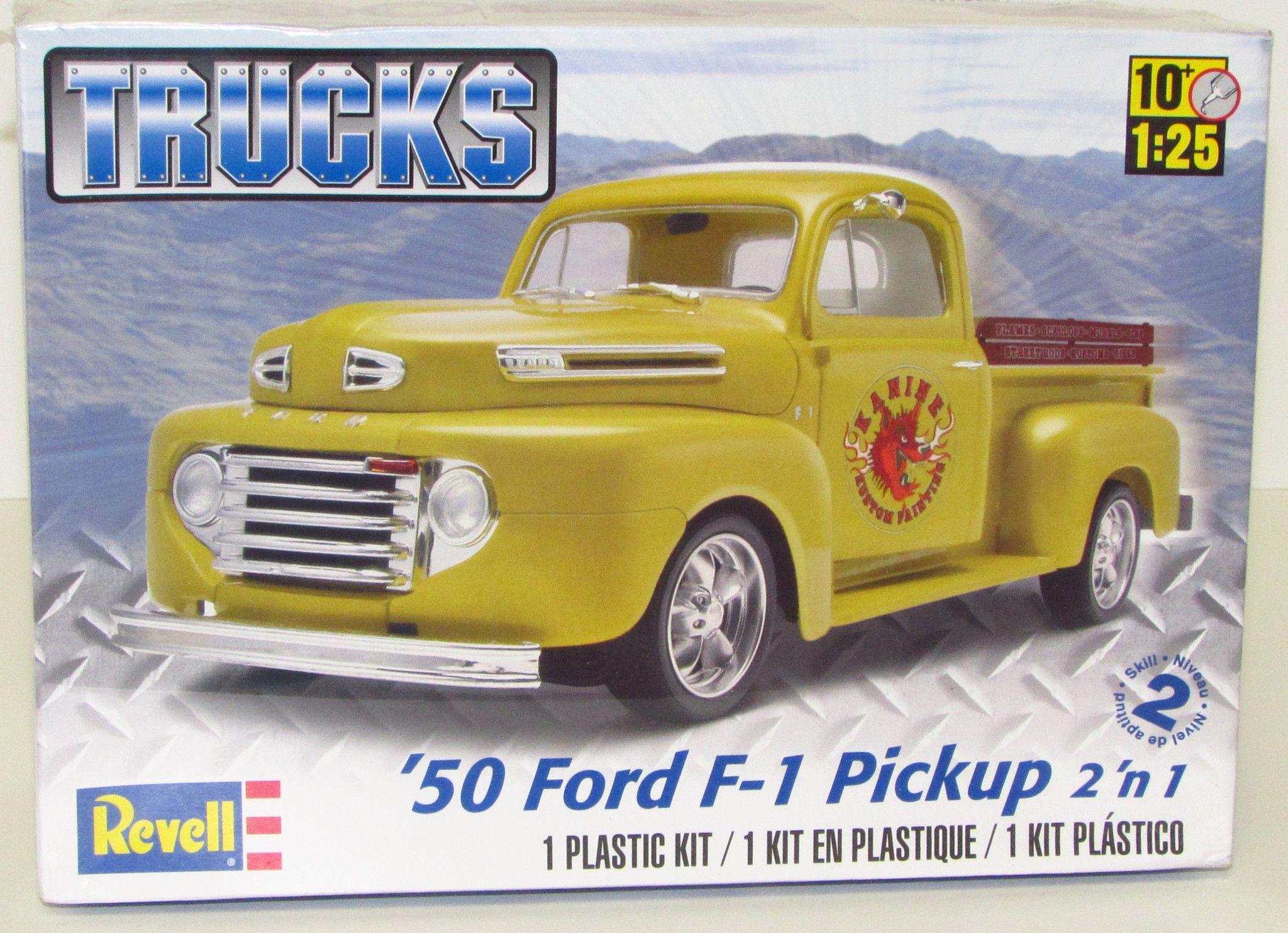 1950 Ford F 1 Pickup Revell 85 7203 25 New Truck Model Kit