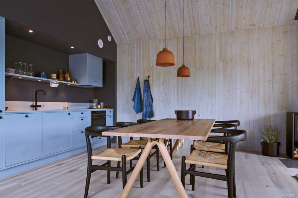 Slope Living Gets A Contemporary Spin Inside This Vemdalen Ski Chalet The Spaces Log Home Plans Kitchen Design Trends Inside A House
