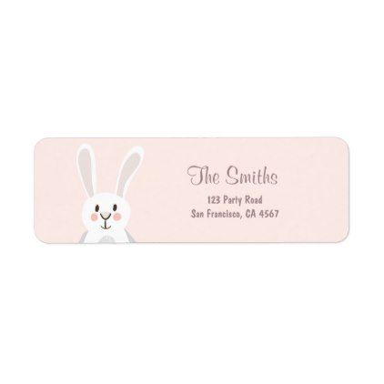 Bunny address labels spring pink easter egg hunt bunny address labels spring pink easter egg hunt birthday gifts party celebration custom gift ideas negle Image collections