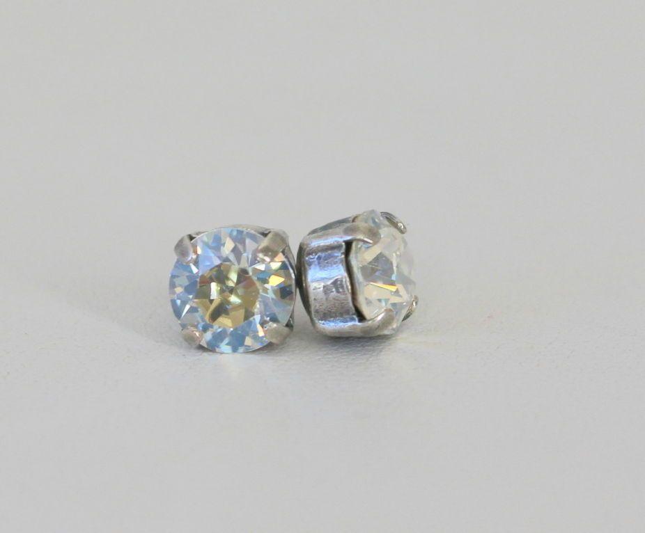 65005b0cc8060 Mariana Swarovski Crystal Silver Stud Earrings NWT Moonlight ...