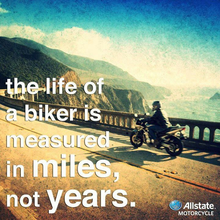 The life of a biker is measured in miles