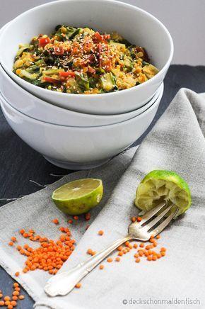 """Mangold-Linsen-Curry – oder """"vegetarischer Farbrausch"""" – Carey&CleanEatingS"""