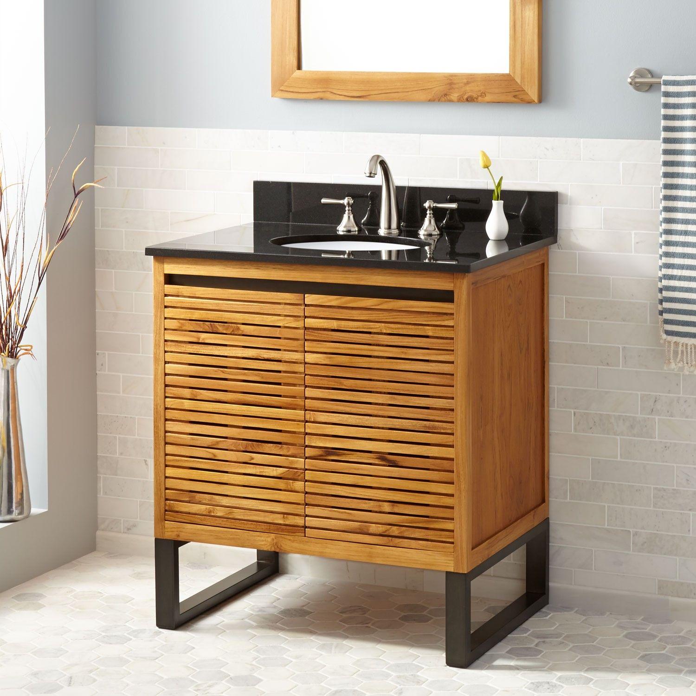 30 Dickson Teak Vanity For Undermount Sink Natural Teak