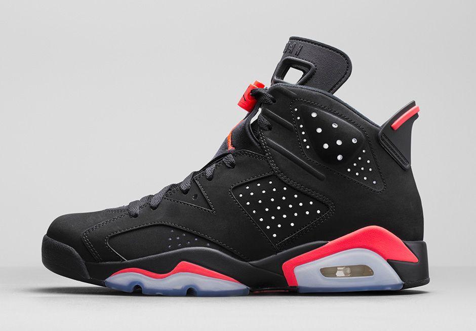 Nike Hommes Air Jordan 6 Retro - Noir  / Infrarouge 23  / Loup