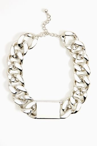 Chunky ID Necklace in Silver
