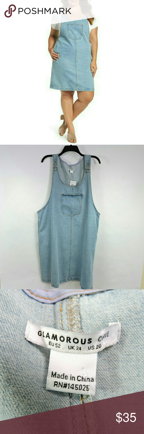 65c21b6978 Glamorous Curve Denim Plus Size Jumper Dress Perfect for summer. This jumper  is in nice condition and comes from a smoke free home.