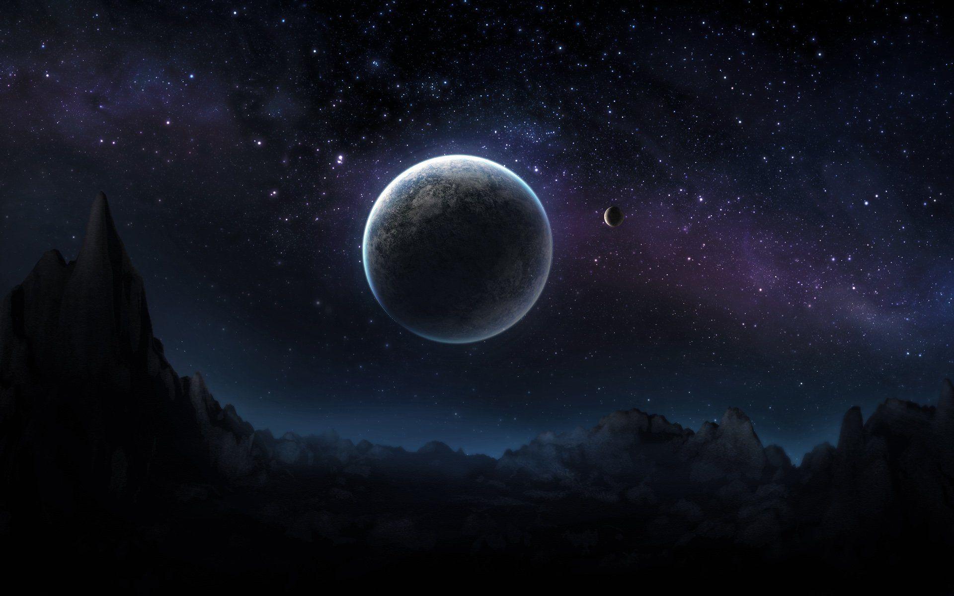 Dark Space Hd Desktop Wallpaper Widescreen High Definition