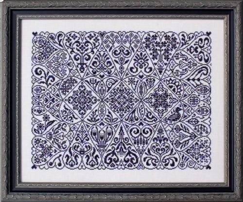 Cirque Des Coeurs Sampler Cross Stitch Pattern Ink Circle Motifs Monochromatic | eBay