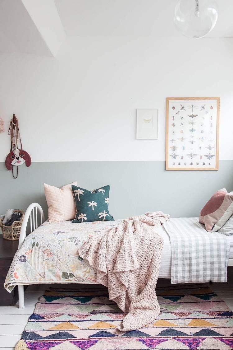 Idee Deco Peinture Interieur Maison Les Murs Bicolores Respirent L Equilibre Decoration Chambre Enfant Peinture Interieur Maison Peinture Chambre Enfant