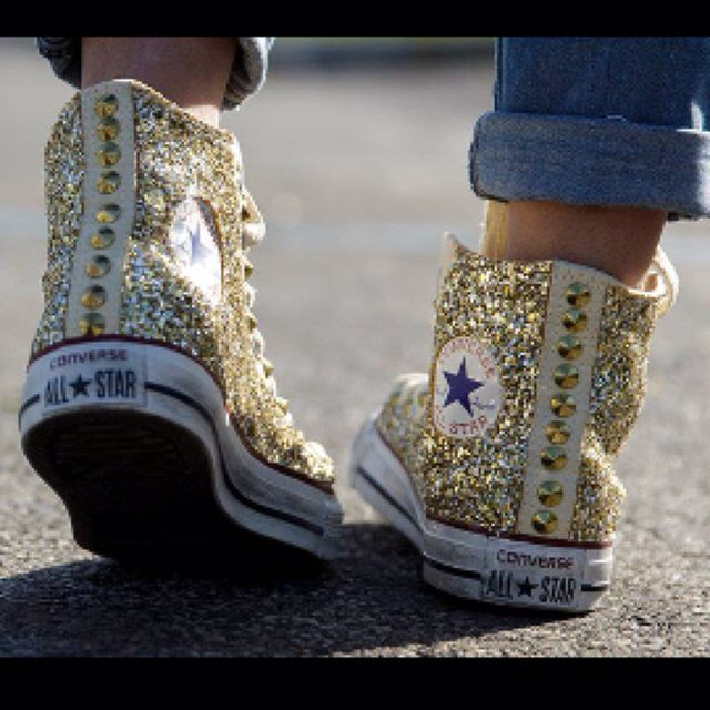 converse alte donna decorate