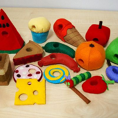 Felt patterns - the very hungry caterpillar set (patterns and tutorials via email)