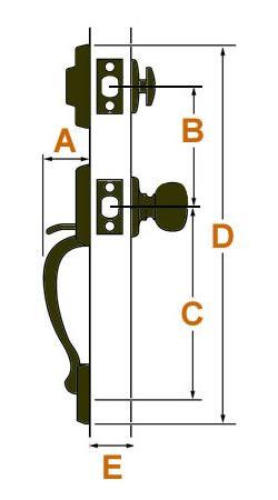 Entry Door Handleset Measurements Replacing Entry Sets Entry Door Handles Front Door Handles Entry Doors