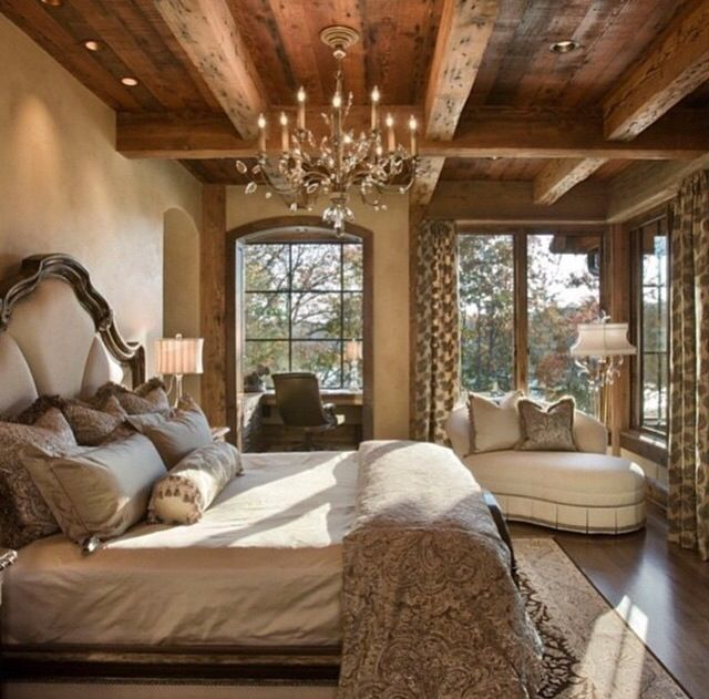 20 Gorgeous Luxury Bedroom Ideas: Rustic Master Bedroom, Country Master