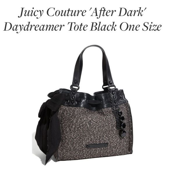 "Juicy Couture Daydreamer in ""After Dark"" Excellent condition, this purse is just taking up space in my closet. No major wear and tear. I also have the matching leather wallet. Willing to bundle. Purse is authentic and was purchased at the JC store off 5th Ave. in NYC. Juicy Couture Bags"