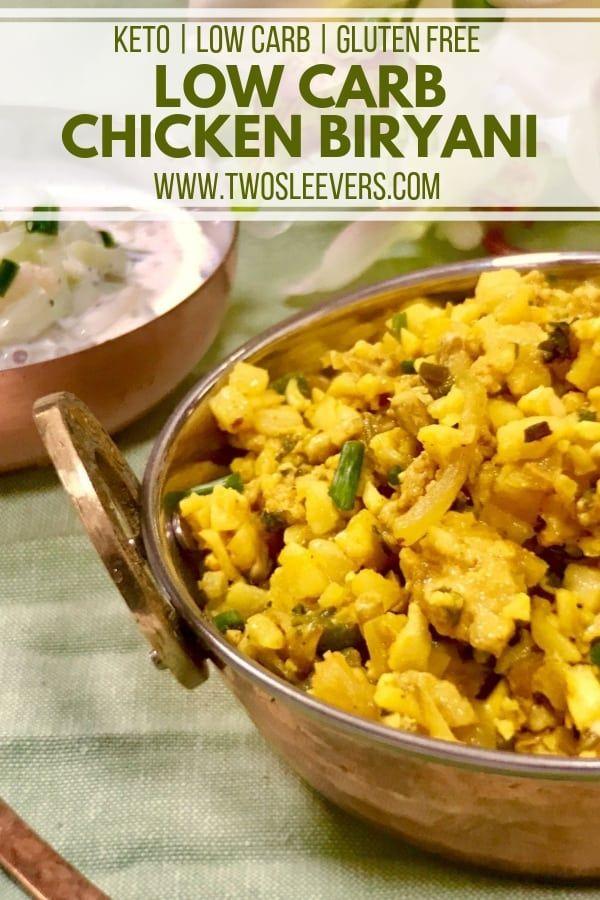 Low Carb Chicken Biryani | Low Carb Indian Food Recipe #indianfood