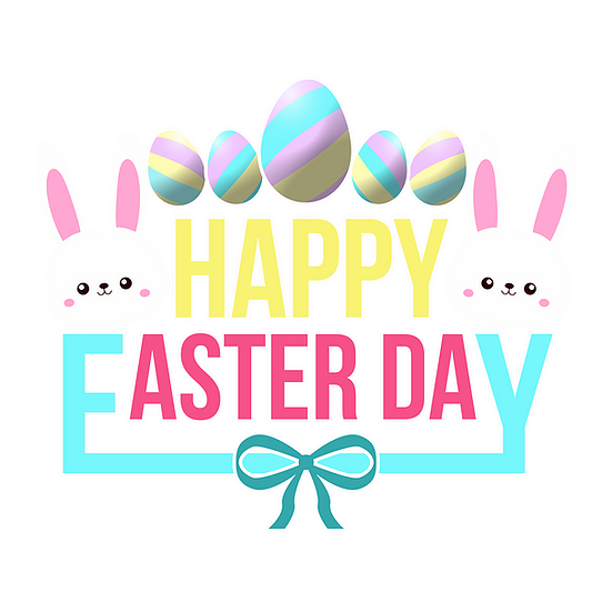 Happy Easter Day Adorable Clipart Png Transparent Image Instant Download Upcrafts Design In 2021 Happy Easter Day Clip Art Printable Wall Art