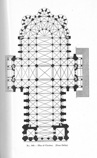 Chartres Plan Chartres Cathedral Architecture Illustration