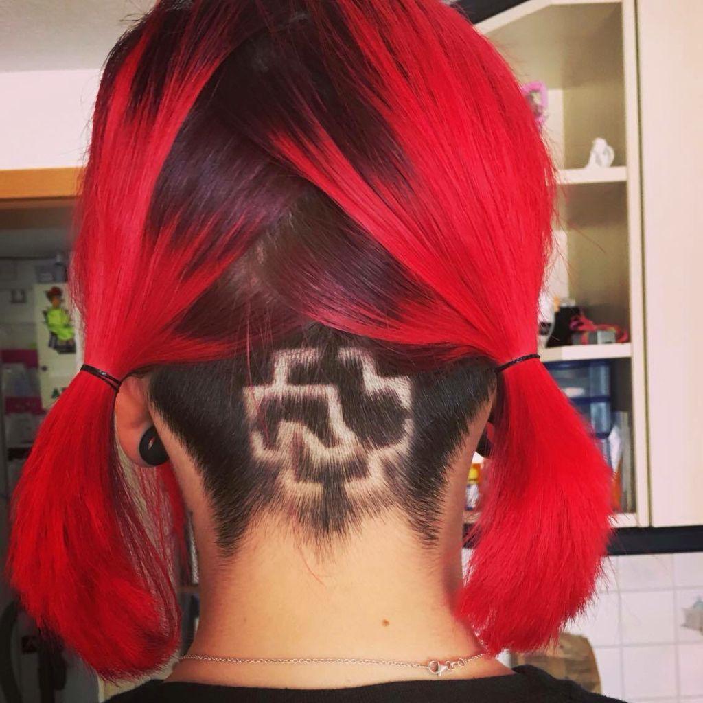 Haartattoo Red Hair Rammstein Black Duhast Tattoo Redhair Love Hair Beauty Cool Hairstyles Hair Styles