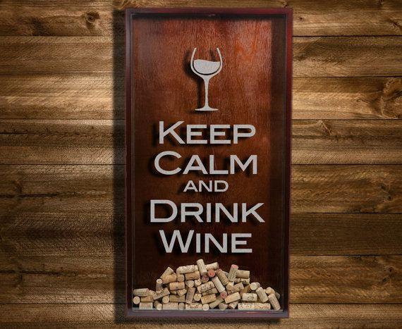 Keep Calm And Drink Wine Cork Holder Uk