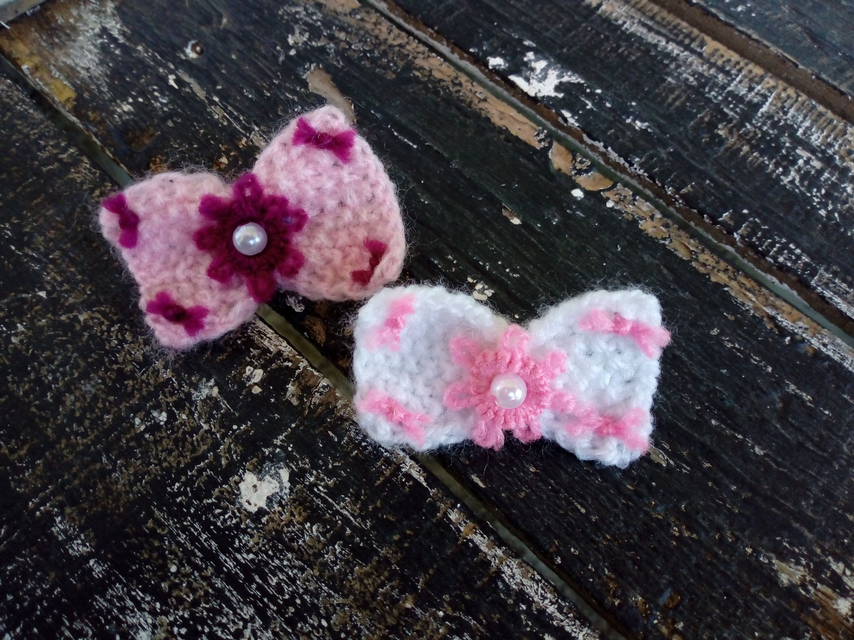 Crochet floral hair bow for dog handmade hair bow for dog dog hair clip dog alligator clip Rose Dog hair bow Dog accessories