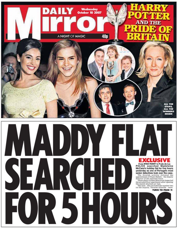 Daily+Mirror Pride of britain, Newspaper headlines