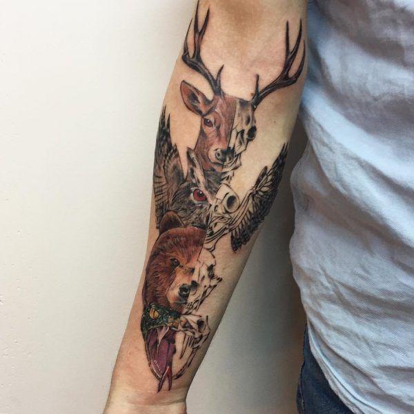 Тату животных на предплечье (22 картинки)   Татуировки ...