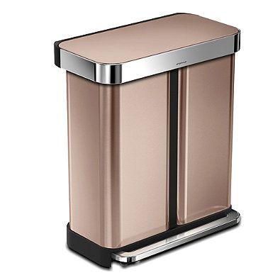 Best Simplehuman® Dual Compartment Rectangular 58 Liter Step 400 x 300