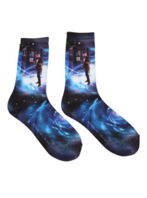 Doctor Who TARDIS Galaxy Crew Socks - Have these... Love them!!