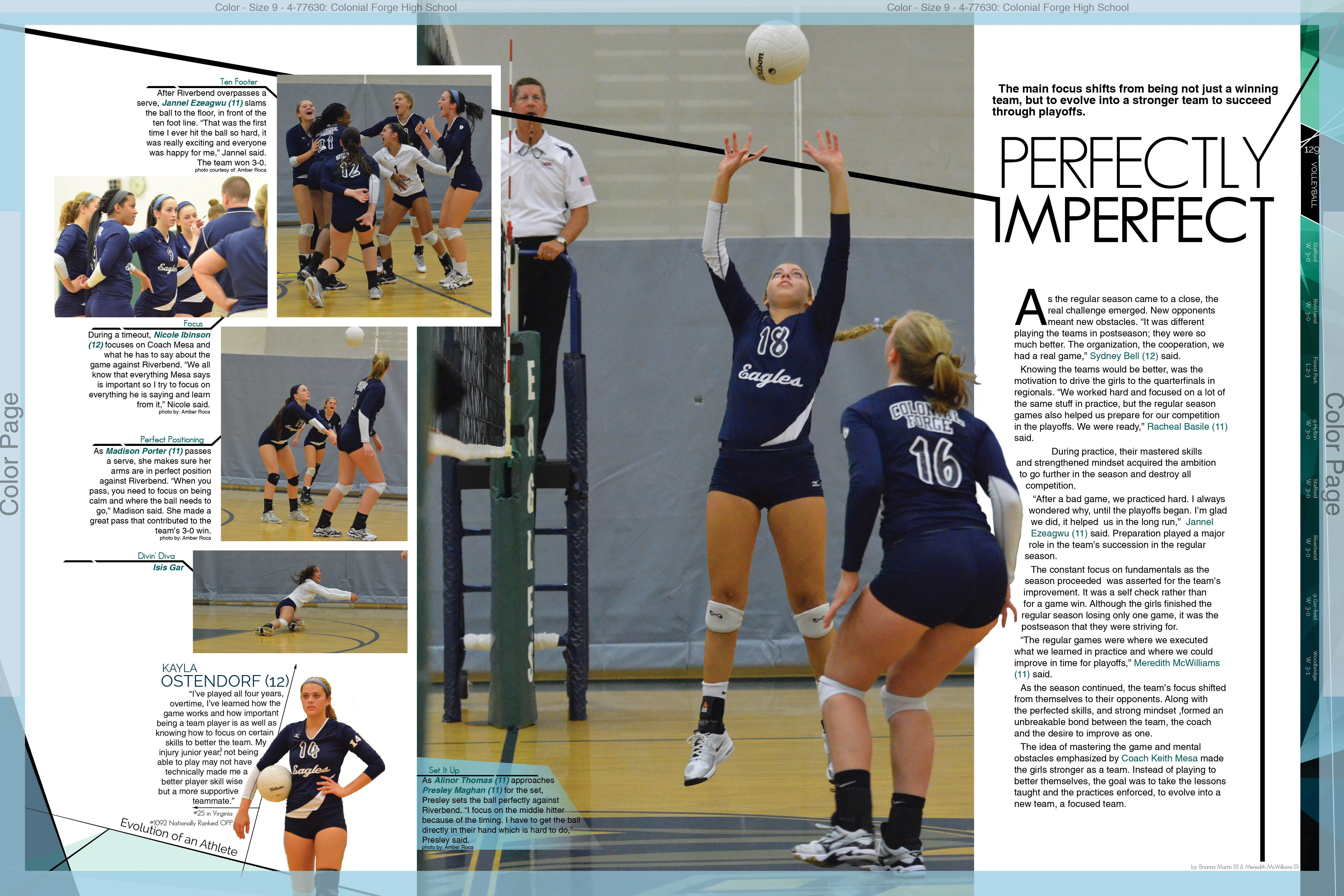 Captions Freshman Volleyball Yearbook Pages