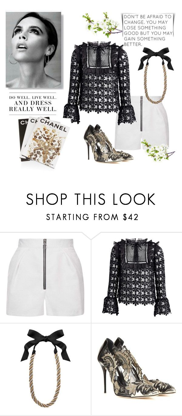 """""""Decadence"""" by curlysuebabydoll ❤ liked on Polyvore featuring Topshop, Lanvin, Oscar de la Renta, Assouline Publishing, Victoria Beckham and Levi's"""