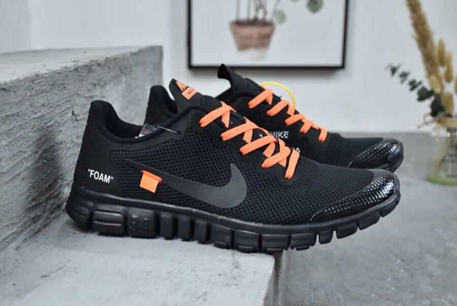 e6efdcb2c4c ... Nike Off White x Nike Free 3.0.2 Joint Barefoot Mesh Light Running  Shoes ...