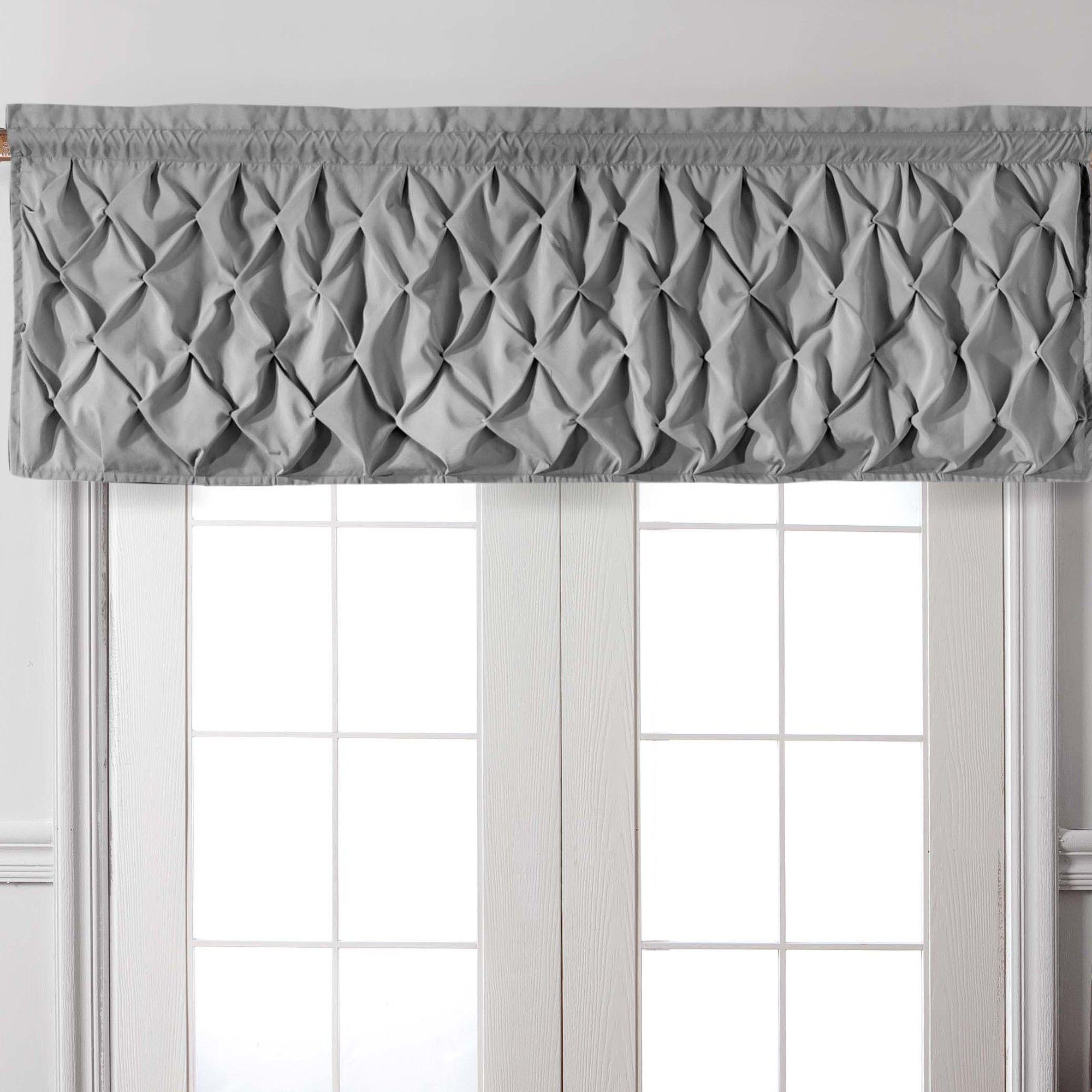 Curtain valances for windows and rods - Taryn Pintucked Rod Pocket Curtain Valance