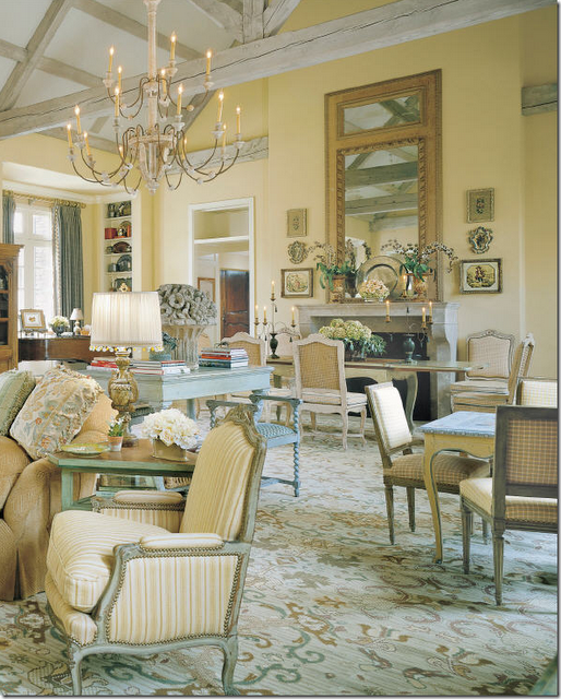 Veranda Magazine Charles Faudree French Country Living Room