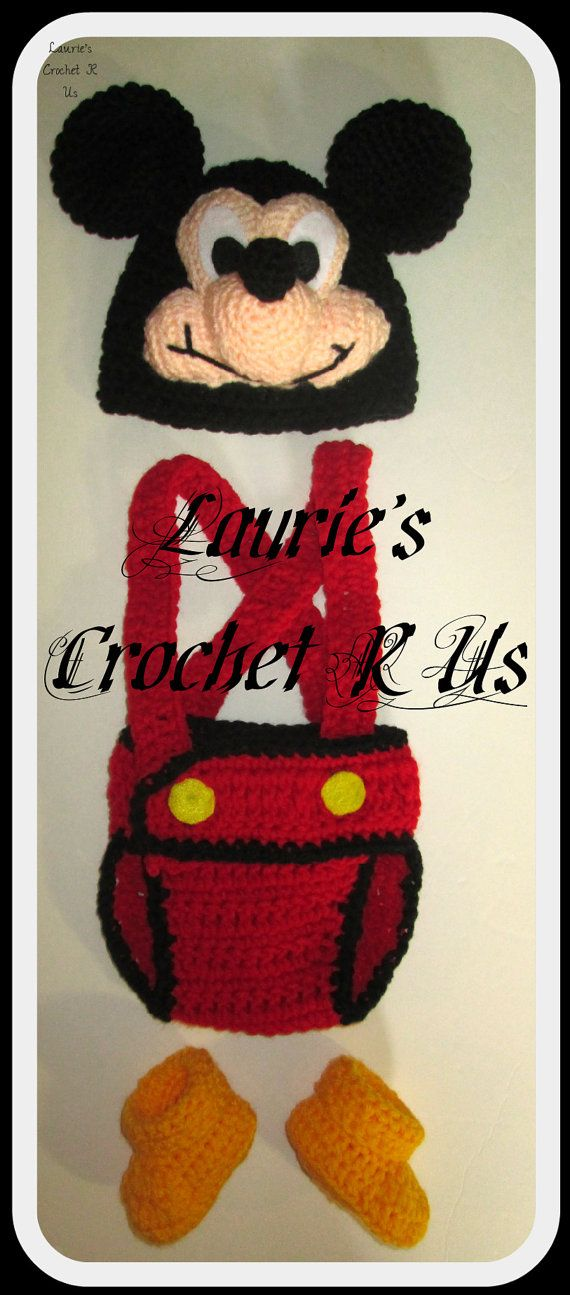 Handmade Crochet Boy Mouse 3pce Baby Set..Hat by LauriesCrochetRUs ...
