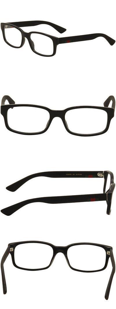 Gucci Men\'s Eyeglasses GG0012O 0012/O 01 Black Transparent Optical ...