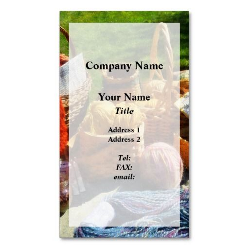 Baskets of Yarn at Flea Market Business Card Business cards - seamstress resume sample