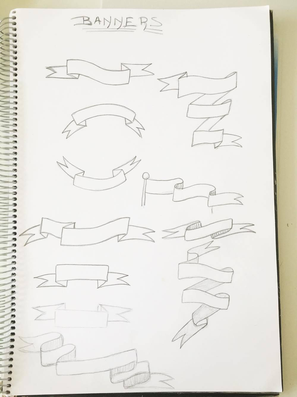 Come by and learn how to draw 1 basic curved banner! To ...