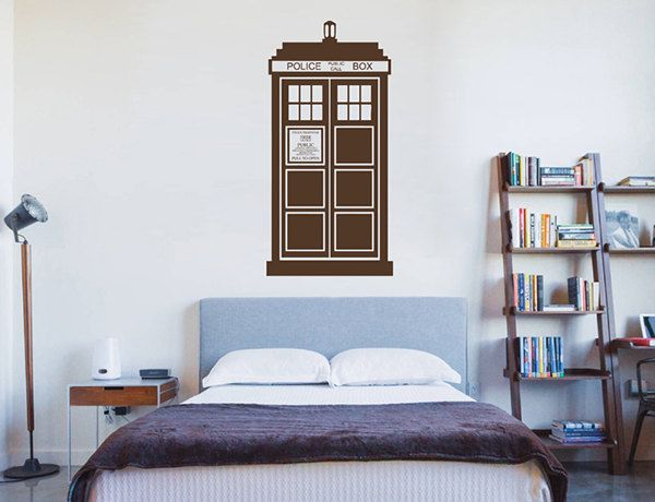 Kik2242 Wall Decal Sticker Time Machine Spaceship Tardis Doctor Who Living  Childrenu0027s Bedroom