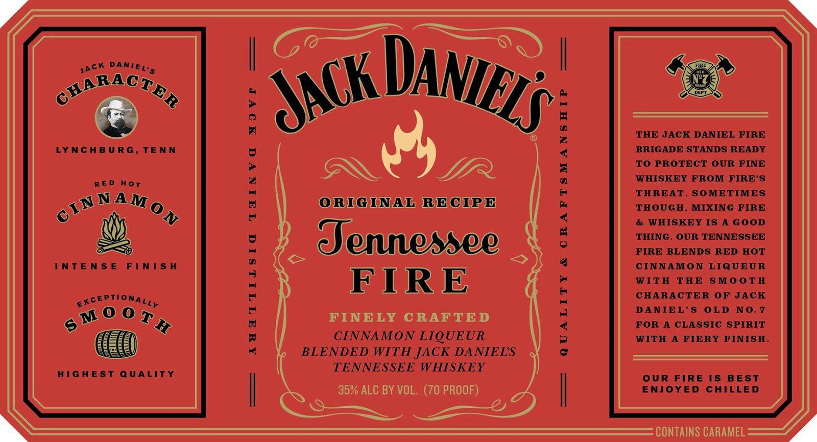 jack daniel s fire whiskey labels jack daniels tennessee fire