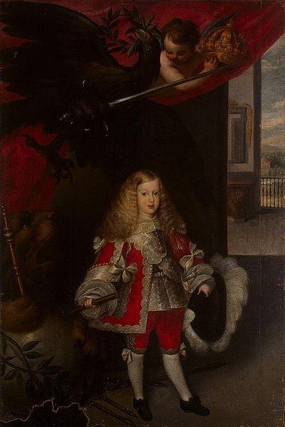 Portrait of Charles II of Spain as a Child by Sebastian deHerrera Barnuevo,c. 1660s