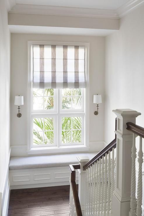 Best Wonderfully Designed Staircase Landing Features A White 640 x 480