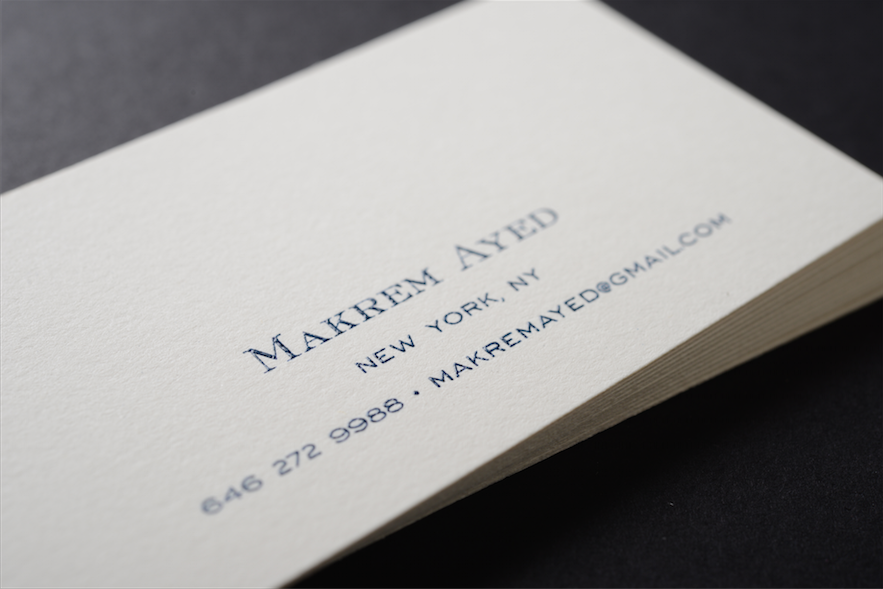Nice one color Raised Ink Business Card! Contact us at info ...