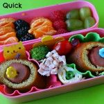 Cute & quick bento for the kids.