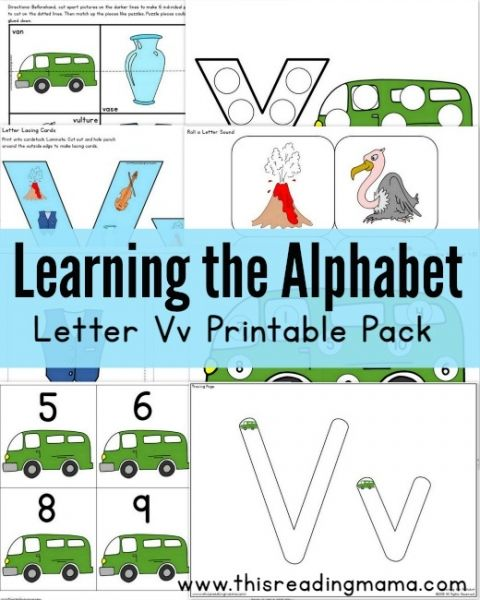 learning the alphabet free letter v printable pack best of this reading mama learning the. Black Bedroom Furniture Sets. Home Design Ideas